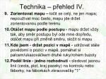 technika p ehled iv