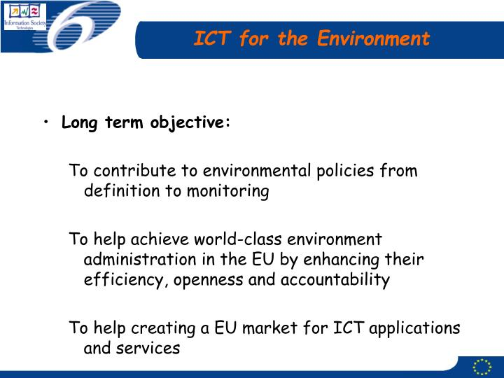 Ict for the environment