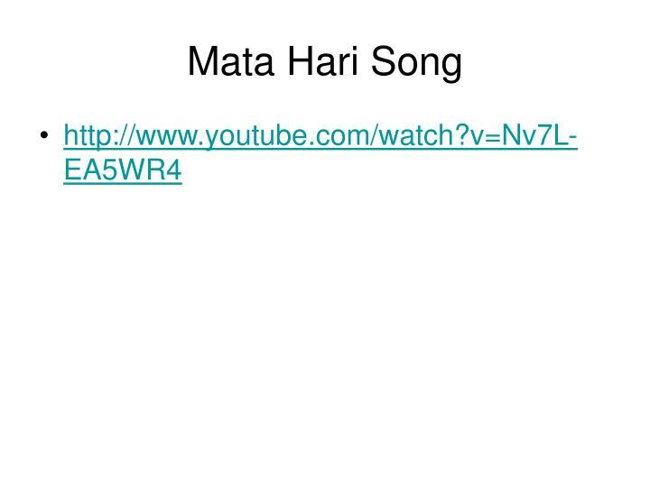 Mata Hari Song
