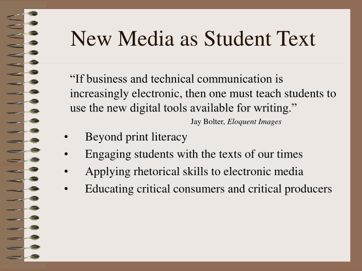 New Media as Student Text
