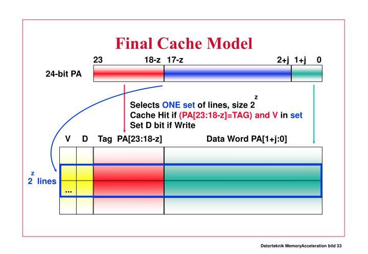 Final Cache Model