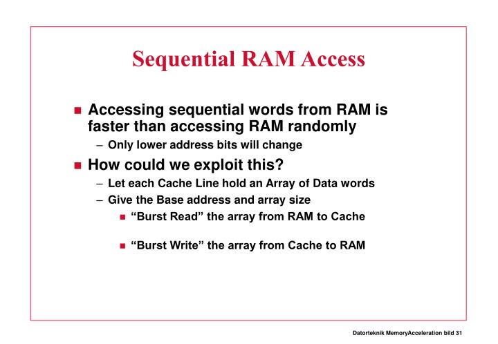 Sequential RAM Access