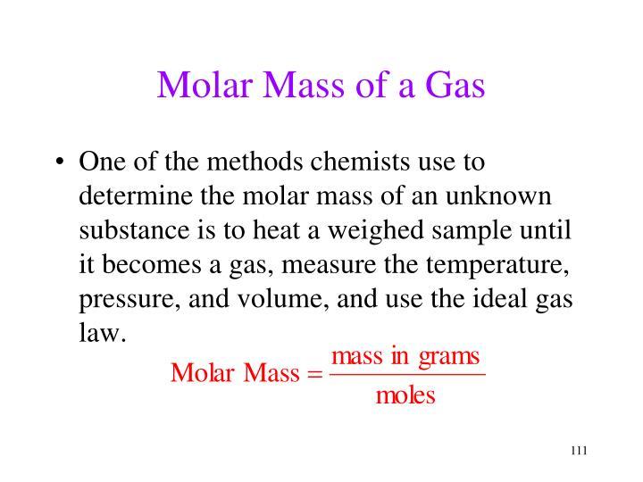 Molar Mass of a Gas