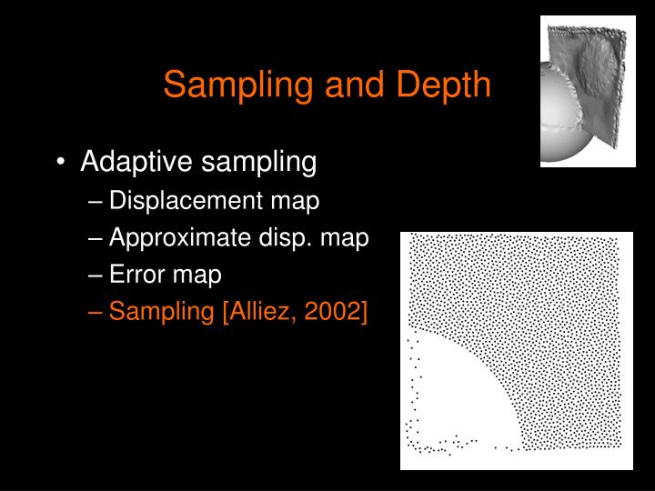 Sampling and Depth