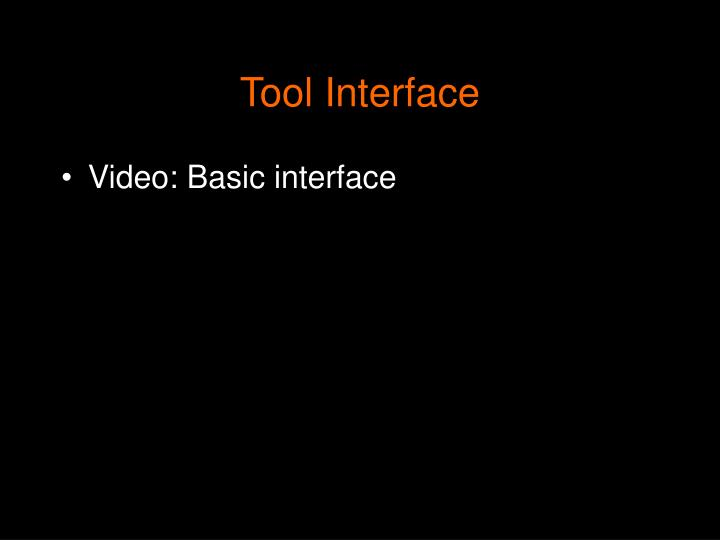 Tool Interface