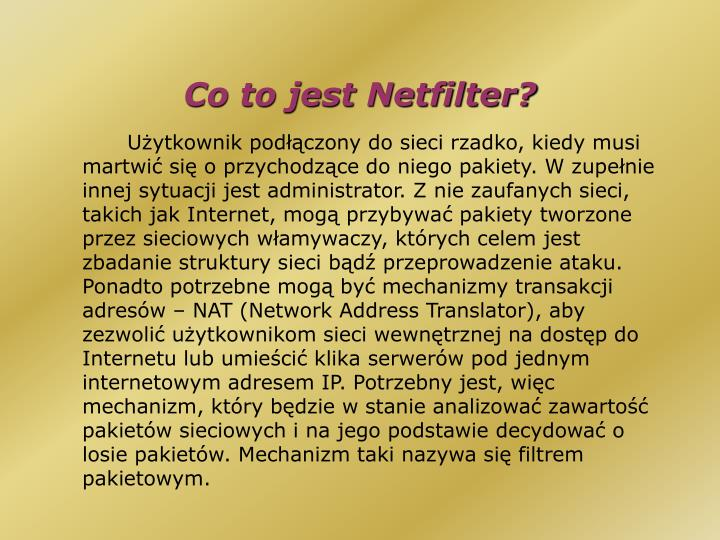 Co to jest Netfilter?