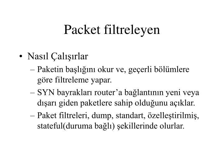 Packet filtreleyen