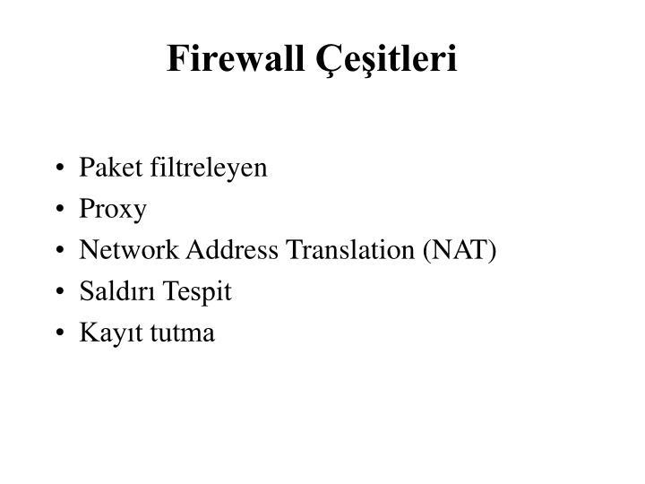 Firewall Çeşitleri