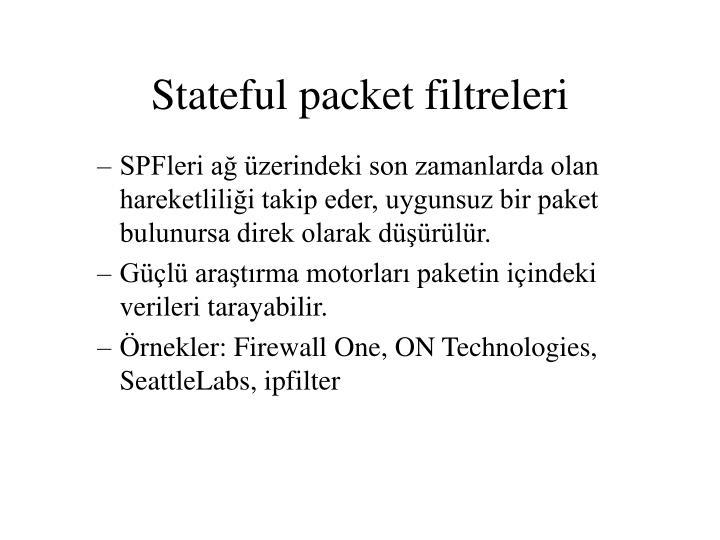 Stateful packet filtreleri