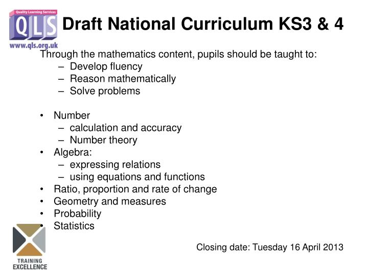 Through the mathematics content, pupils should be taught to: