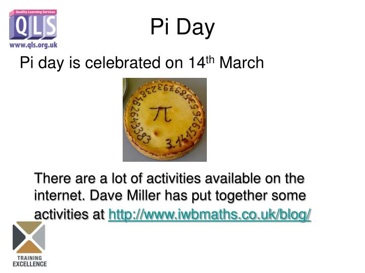 Pi day is celebrated on 14