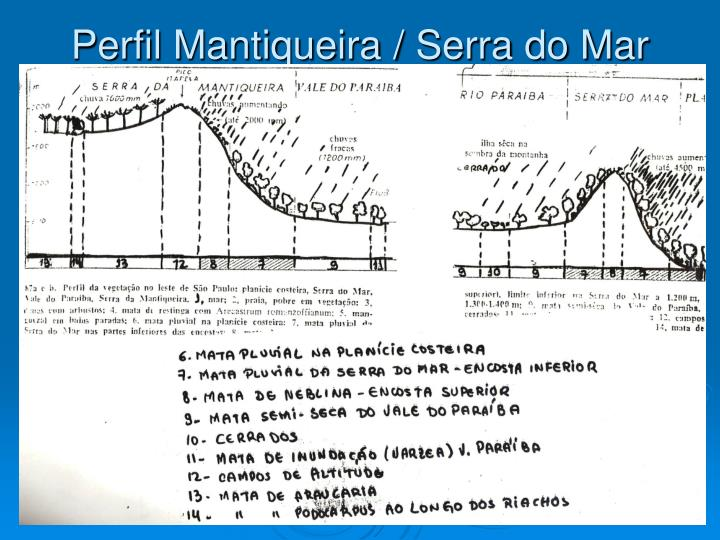 Perfil Mantiqueira / Serra do Mar