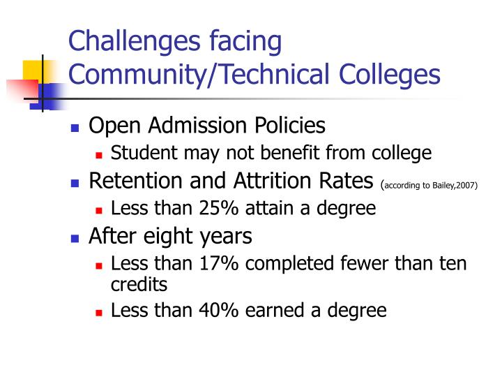 Challenges facing Community/Technical Colleges