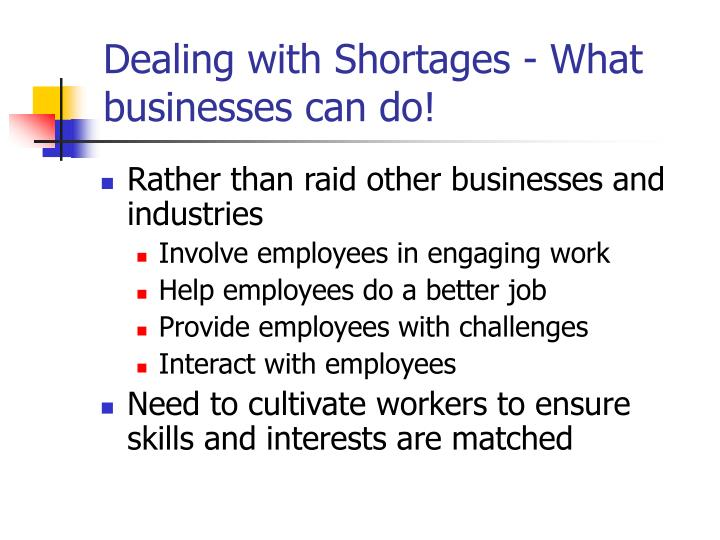 Dealing with Shortages - What businesses can do!