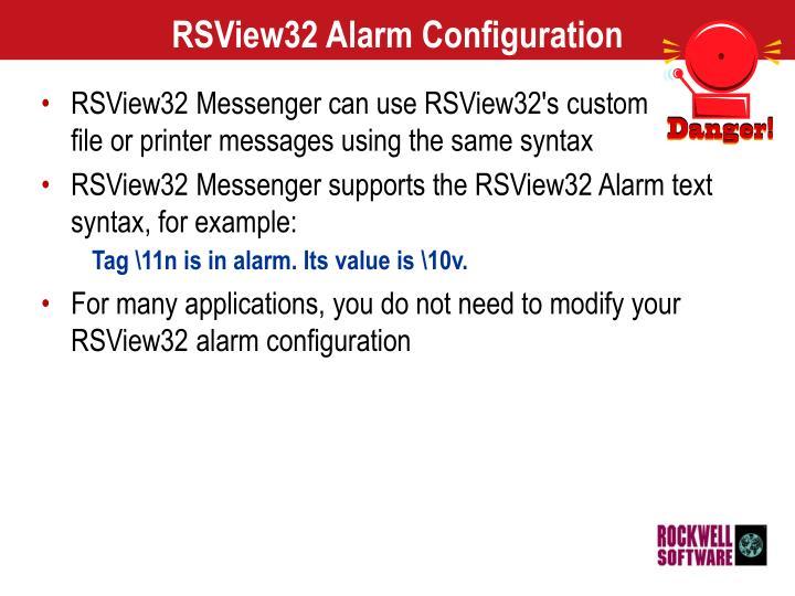 RSView32 Alarm Configuration