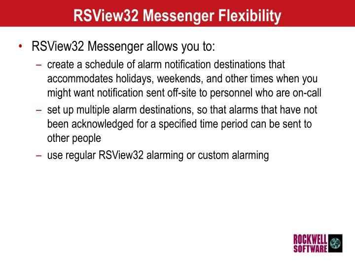 RSView32 Messenger Flexibility