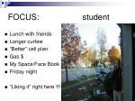 focus student