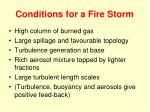 conditions for a fire storm