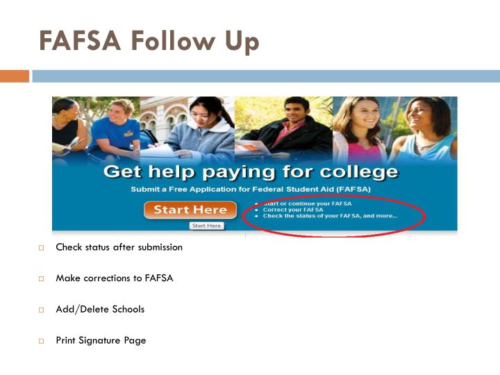 FAFSA Follow Up