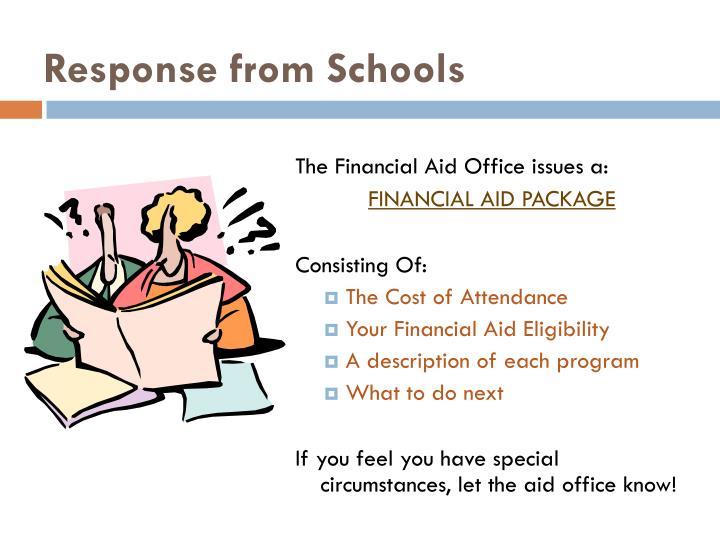 Response from Schools