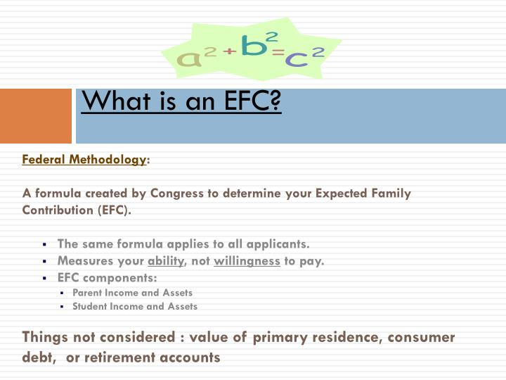 What is an EFC?
