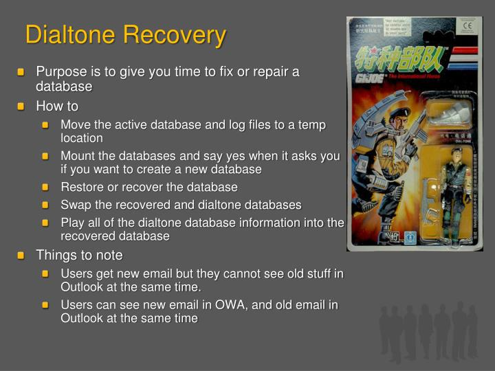 Dialtone Recovery