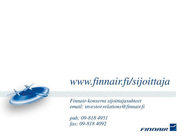 www.finnair.fi/sijoittaja