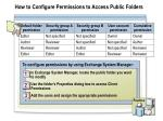 how to configure permissions to access public folders