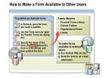 how to make a form available to other users