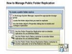 how to manage public folder replication