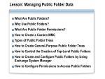 lesson managing public folder data