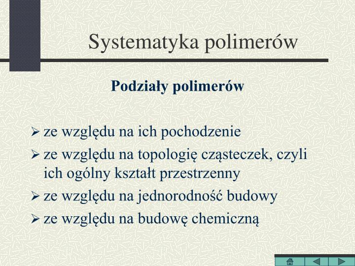 Systematyka polimerów