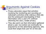 arguments against cookies
