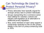 can technology be used to protect personal privacy