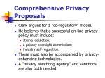 comprehensive privacy proposals