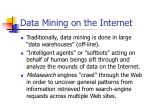 data mining on the internet