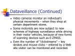 dataveillance continued