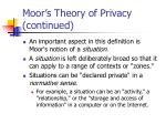 moor s theory of privacy continued