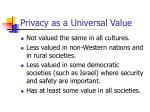 privacy as a universal value