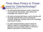 three ways privacy is threat ened by cybertechnology