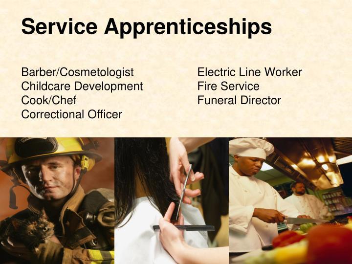 Service Apprenticeships