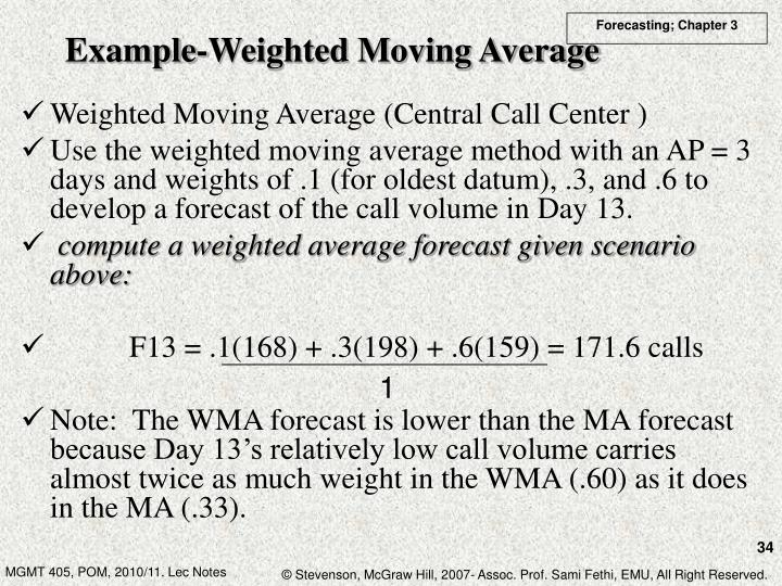 Example-Weighted Moving Average