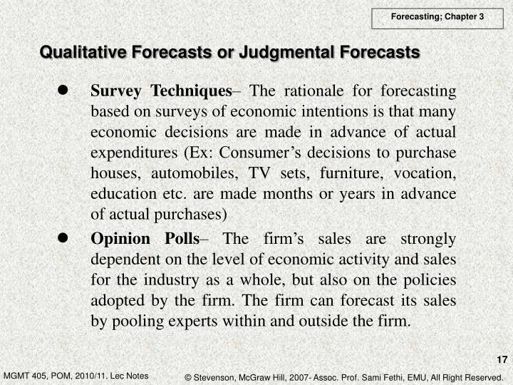 Qualitative Forecasts