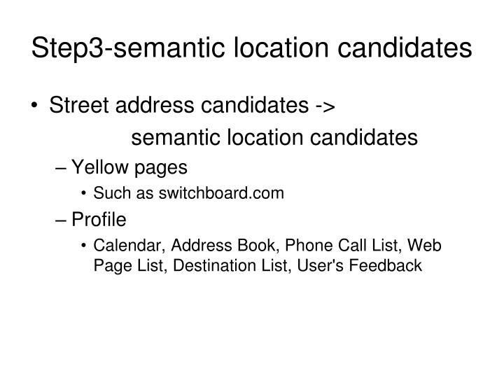 Step3-semantic location candidates