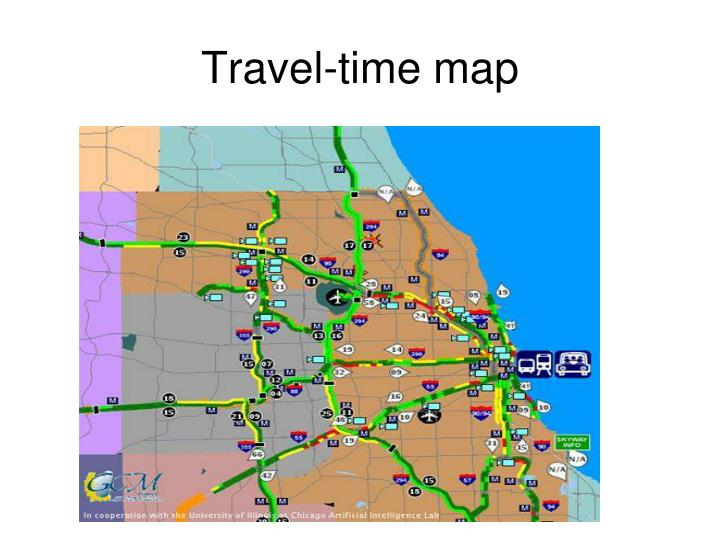 Travel-time map