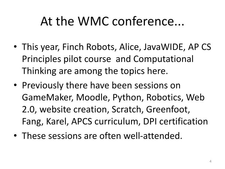 At the WMC conference...