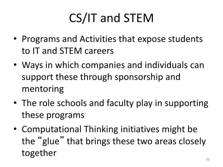 CS/IT and STEM