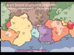 layers based on physical properties lithosphere asthenosphere mesosphere core
