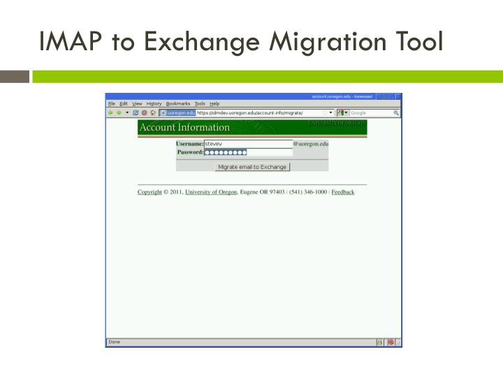 IMAP to Exchange Migration Tool