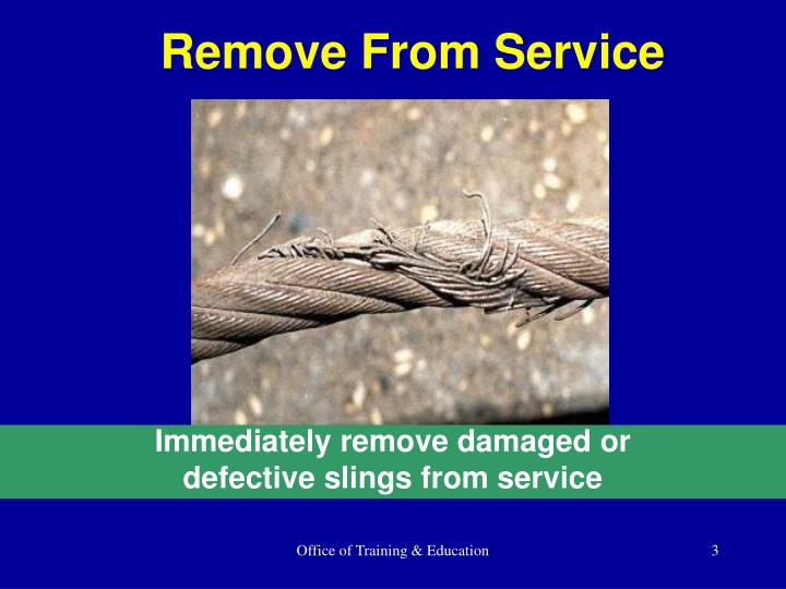 Remove From Service